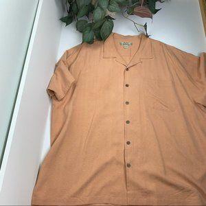 Tommy Bahama 100% Silk Short Sleeve Button Up XXL